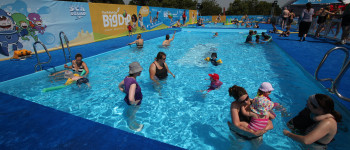 Big Dip British Gas swimming 2011 full production for experiential event