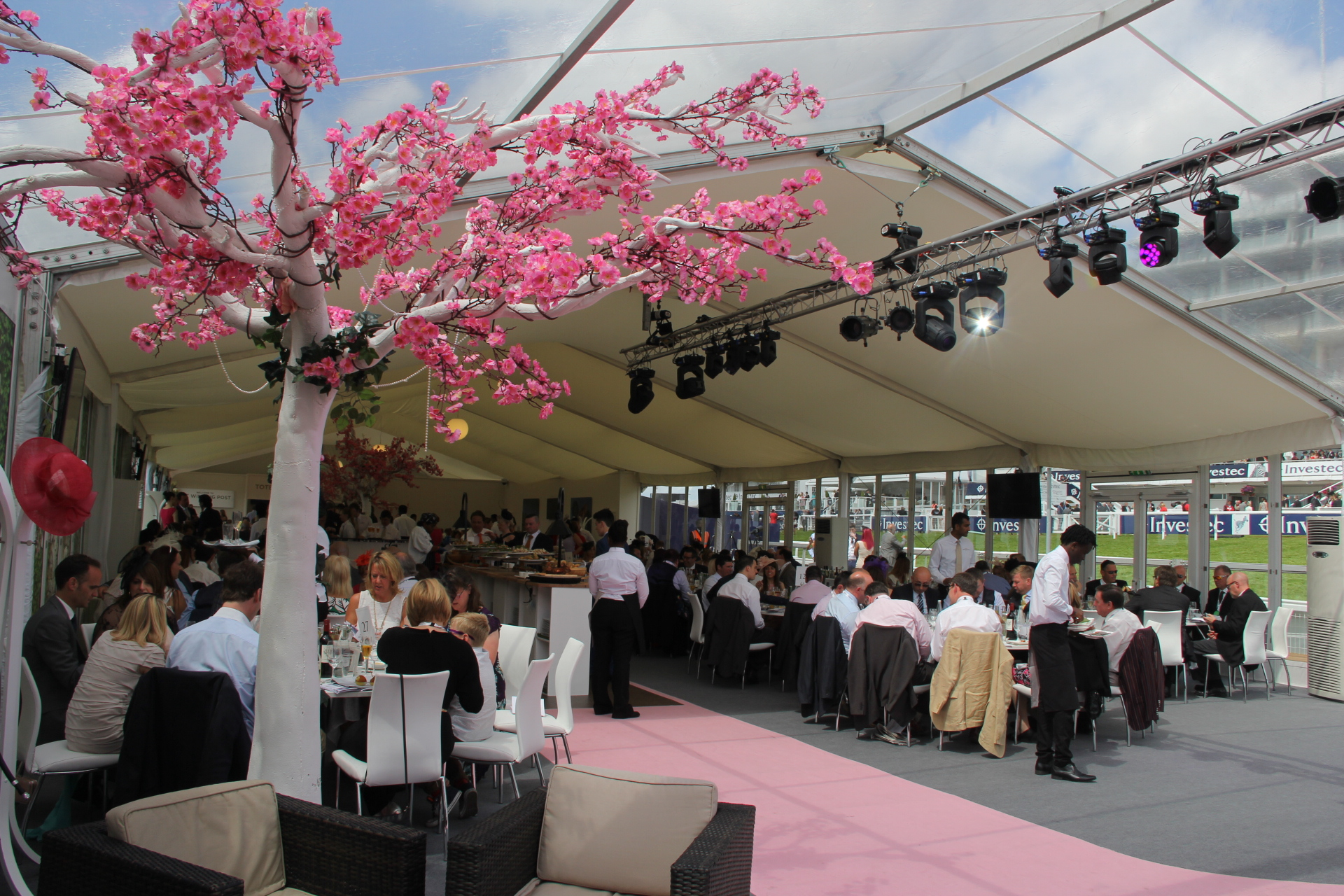 Investec Epsom Derby 2015 sound lighting vidoe and outdoor staging production
