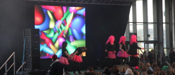 Girl Guides Go Global stage sound lighting at Newark Showground 2015