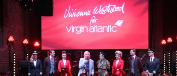Virgin Atlantic Uniform Launch 2014 (150W) - video sound lighting production