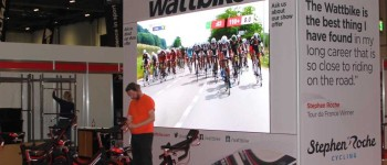 Wattbike - Prudential Ride London 2015 (27) - exhibition stand video wall
