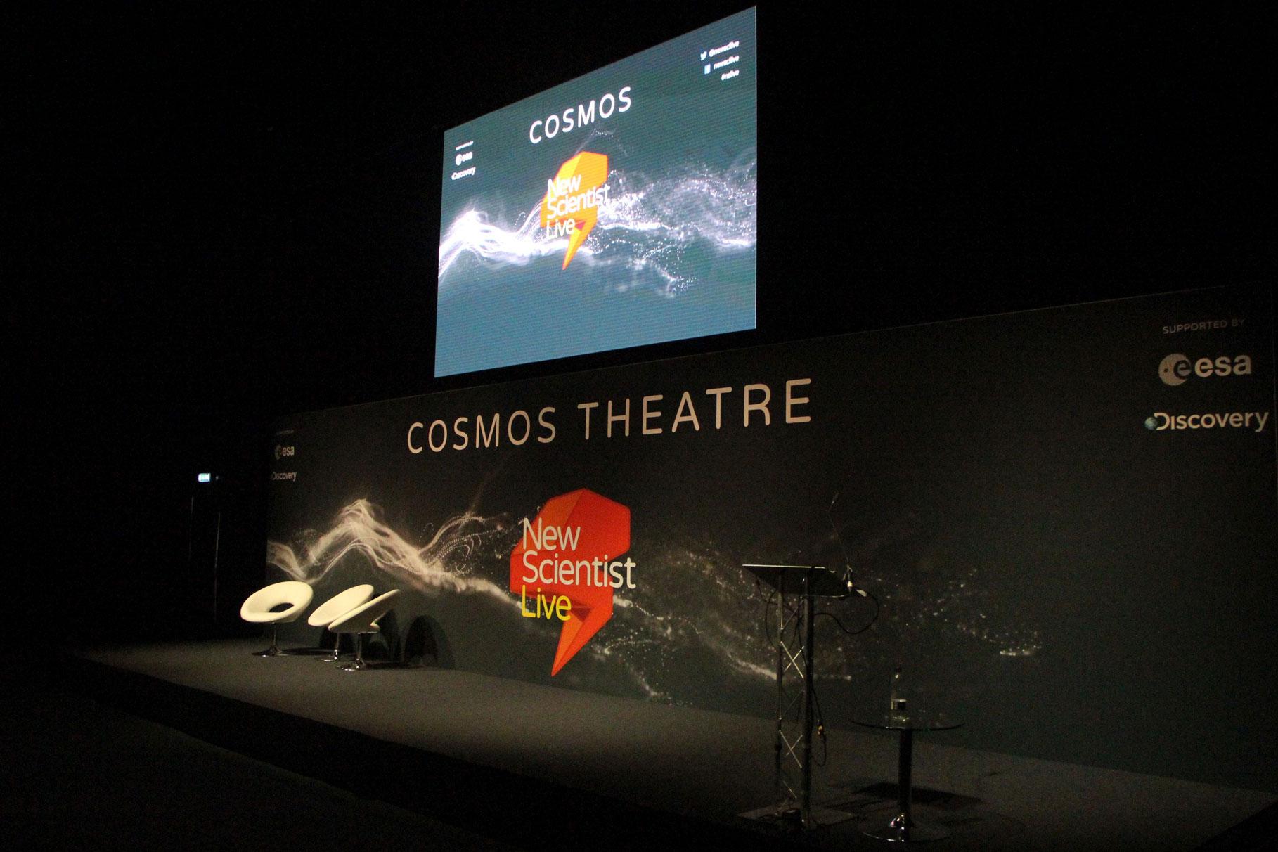 OneBigStar New Scientist Live Cosmos Theatre Exhibition Features & Theatres