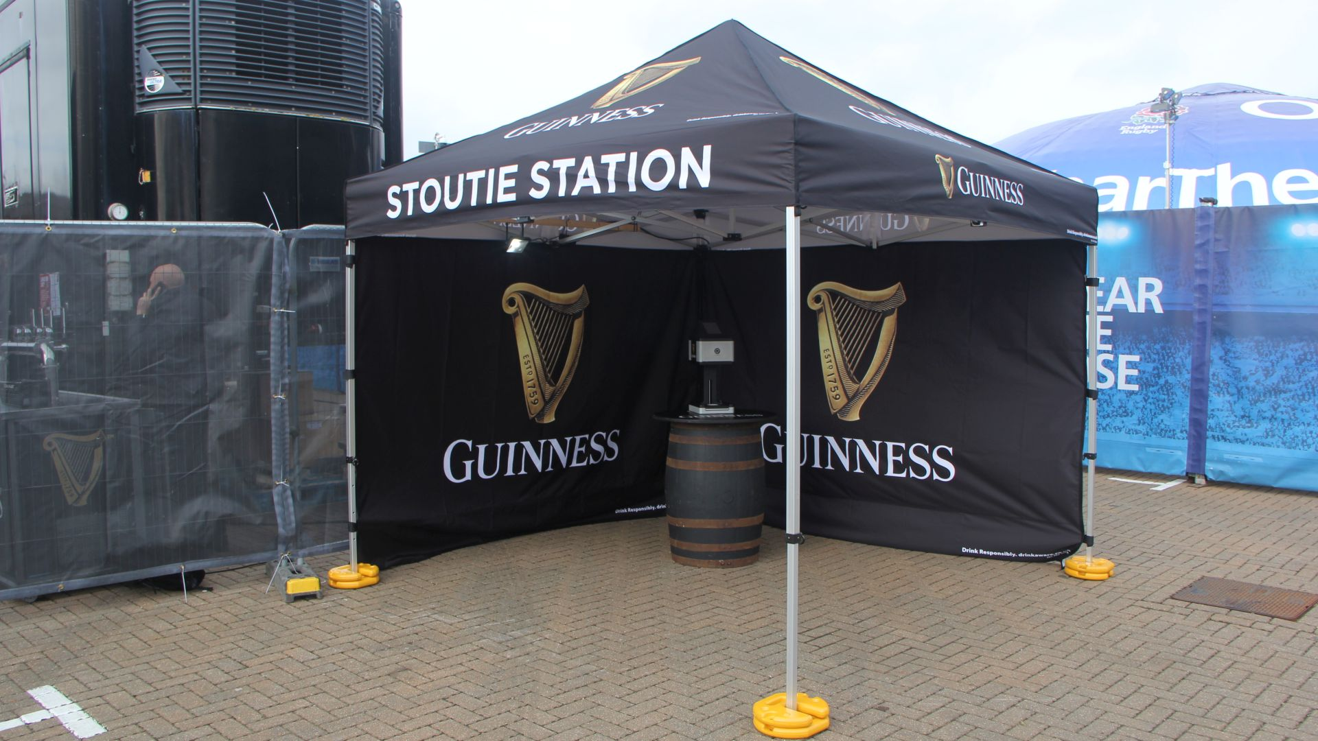 OneBigStar production for Guinness Surge Bar at Six Nations Twickenham 2020