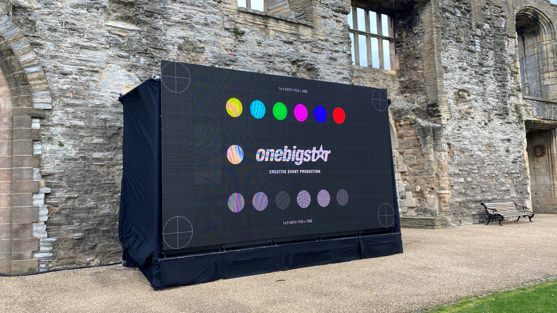 Outdoor LED panel screen