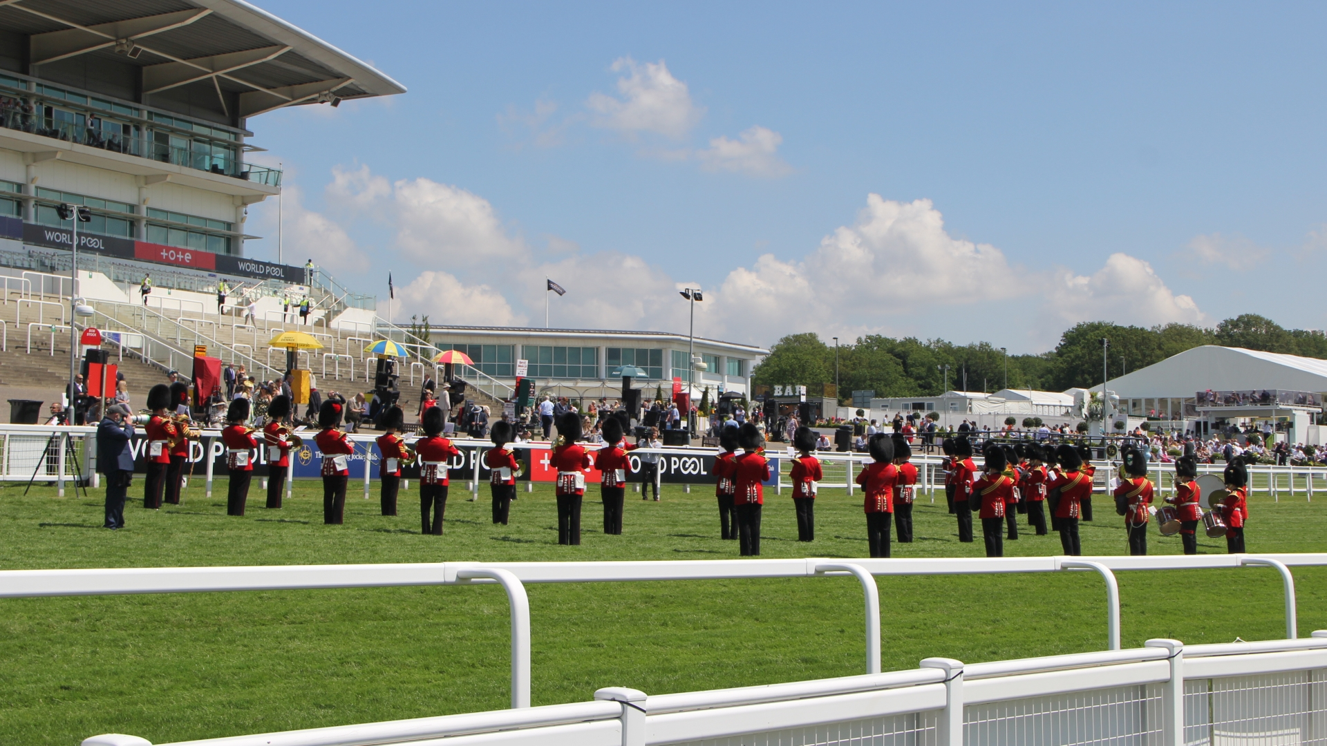 Epsom Derby 2021 Opening Show PA for royal military band